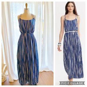 Banana Republic M 8 Blue Striped Maxi Dress